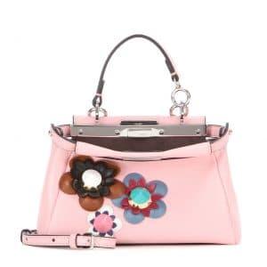 Fendi Pink Flowerland Micro Peekaboo Bag