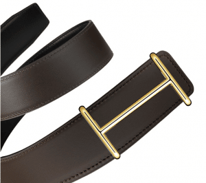 Hermes Black Box and Chocolate Brown Chamonix Gold Idem Belt