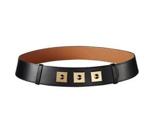 Hermes Black Piano Belt