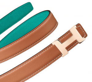 Hermes Gold Swift and Bleu Paon Epsom Mini Constance Belt