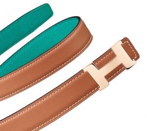 Hermes Gold Swift and Bleu Paon Epsom Mini Constance Belt
