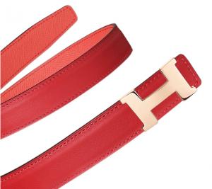 Hermes Vermilion Swift and Pink Epsom Mini Constance Belt