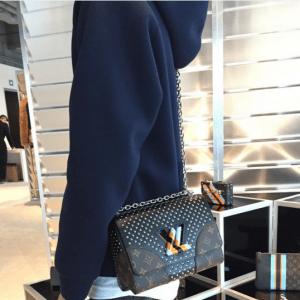 Louis Vuitton Monogram Canvas/Black Studded Twist Bag - Pre-Fall 2016