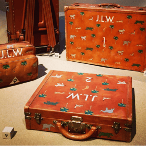 Louis Vuitton Printed Leather Luggage Bags