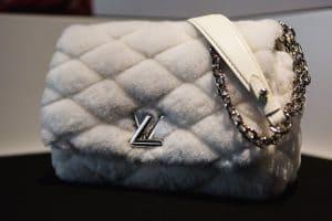Louis Vuitton White Malletage Fur Go-14 Bag - Pre-Fall 2016
