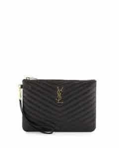 Saint Laurent Monogram Matelasse Pouch Bag 1