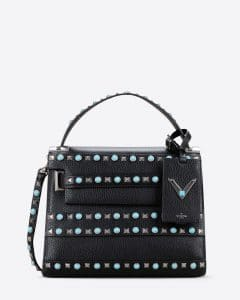 Valentino Black My Rockstud Rolling Small Single Handle Bag