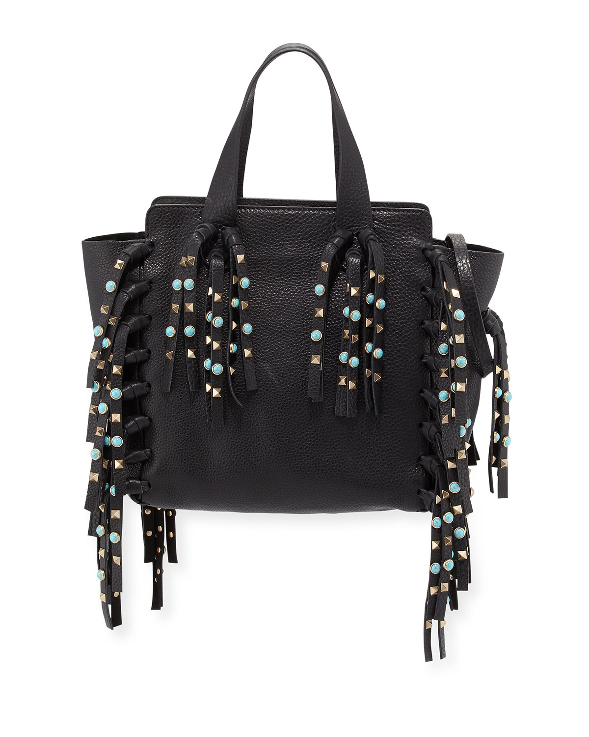 Valentino rockstud small leather tote
