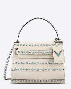 Valentino Ivory My Rockstud Rolling Single Handle Bag