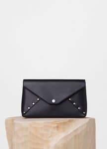 Celine Black Biker Evening Clutch On Strap Bag