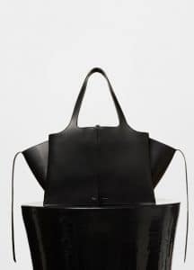 Celine Black Medium Tri-Fold Shoulder Bag