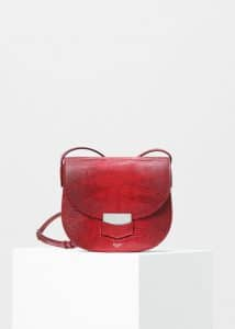Celine Carmin Lizard Small Trotteur Shoulder Bag