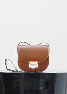 Celine Chestnut Bicolour Small Trotteur Shoulder Bag