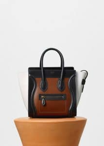 Celine Chestnut Multicolor Glazed Calfskin Micro Luggage Bag
