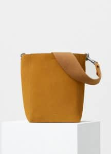 Celine Daffodil Double Sided Suede Calfskin Small Sangle Shoulder Bag