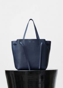 Celine Indigo Soft Grained Calfskin Medium Cabas Phantom with Belt Bag