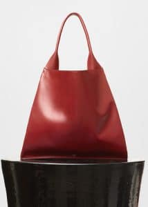 Celine Light Burgundy Medium Shopper Shoulder Bag