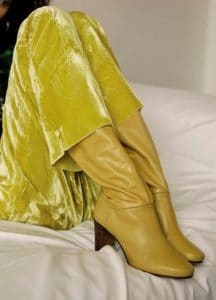 Celine Ochre Shiny Calfksin Heritage Boot - Fall 2016 Lookbook 19