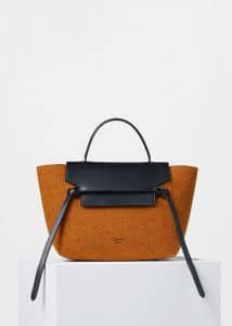 Celine Orange Felt Mini Belt Bag