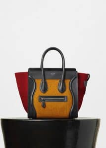 Celine Orange Multicolor Felt Micro Luggage Bag