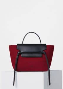 Celine Red Felt Mini Belt Bag