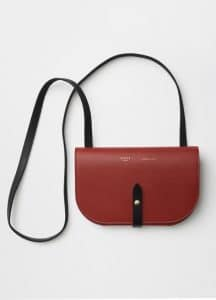 Celine Red Strap Clutch On Strap Bag