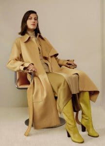 Celine Sand Wool Trench-Coat - Fall 2016 Lookbook 17