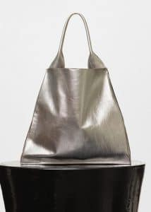 Celine Silver Metallic Medium Shopper Shoulder Bag