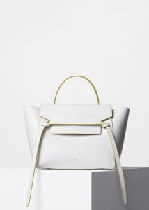Celine White Palmelato Calfskin Mini Belt Bag