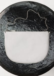 Celine White Small Croissant Shoulder Bag