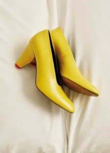 Celine Yellow Kidskin Petal Heel Pump - Fall 2016 Lookbook 8