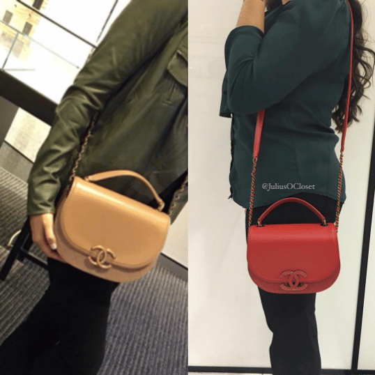 Chanel Beige and Red Coco Curve Bags