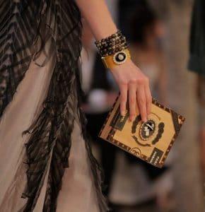 Chanel Beige/Brown Cigar Box Bag - Resort 2017