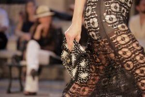 Chanel Black Beaded Classic Flap Bag - Resort 2017