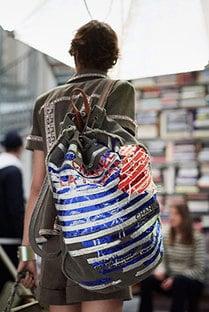 Chanel Green/Blue Multicolor Floral Printed Backpack Bag - Resort 2017