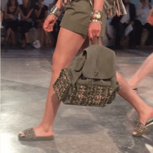 Chanel Olive Green Backpack Bag - Cruise Cuba 2017 Collection