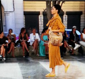 Chanel Orange Multicolor Striped Shoulder Bag - Cruise Cuba 2017 Collection