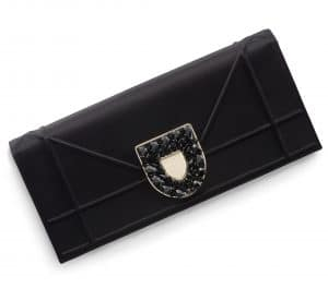 Dior Black Satin Diorama Pouch Bag