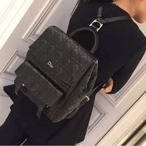 Dior Black Stardust Backpack Large Bag 2