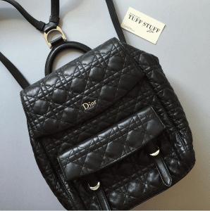 Dior Black Stardust Backpack Large Bag 4