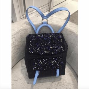 Dior Black/Blue Embellished Stardust Backpack Large Bag