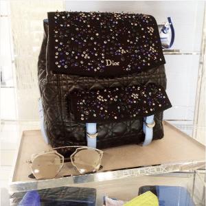 Dior Black/Blue Embellished Stardust Backpack Large Bag 2