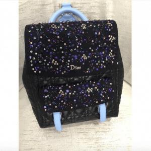 Dior Black/Blue Embellished Stardust Backpack Large Bag 4
