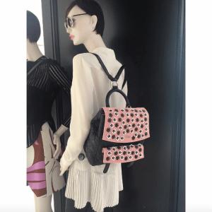 Dior Black/Pink Embellished Stardust Backpack Large Bag 2