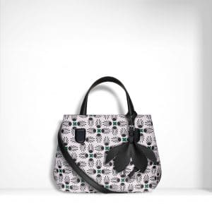 Dior Black/White Floral Printed Small Dior Blossom Bag
