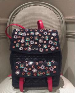 Dior Blue/Pink Embellished Stardust Backpack Large Bag