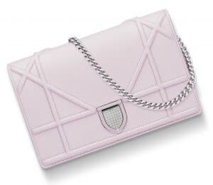 Dior Blush Pink Diorama Wallet On Chain Pouch Bag