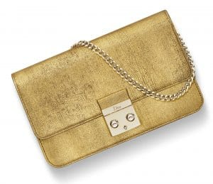 Dior Bright Gold Miss Dior Promenade Pouch Bag
