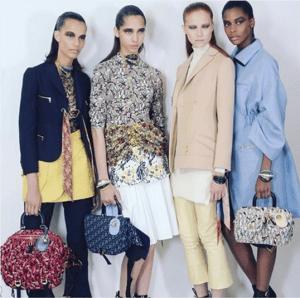 Dior Logo Print Fabric Top Handle Bags - Cruise 2017