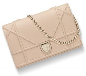 Dior Nude Diorama Wallet On Chain Pouch Bag